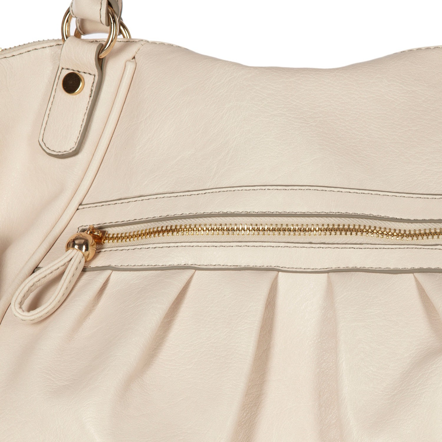 Oasis Pleated Tote Bag in Natural