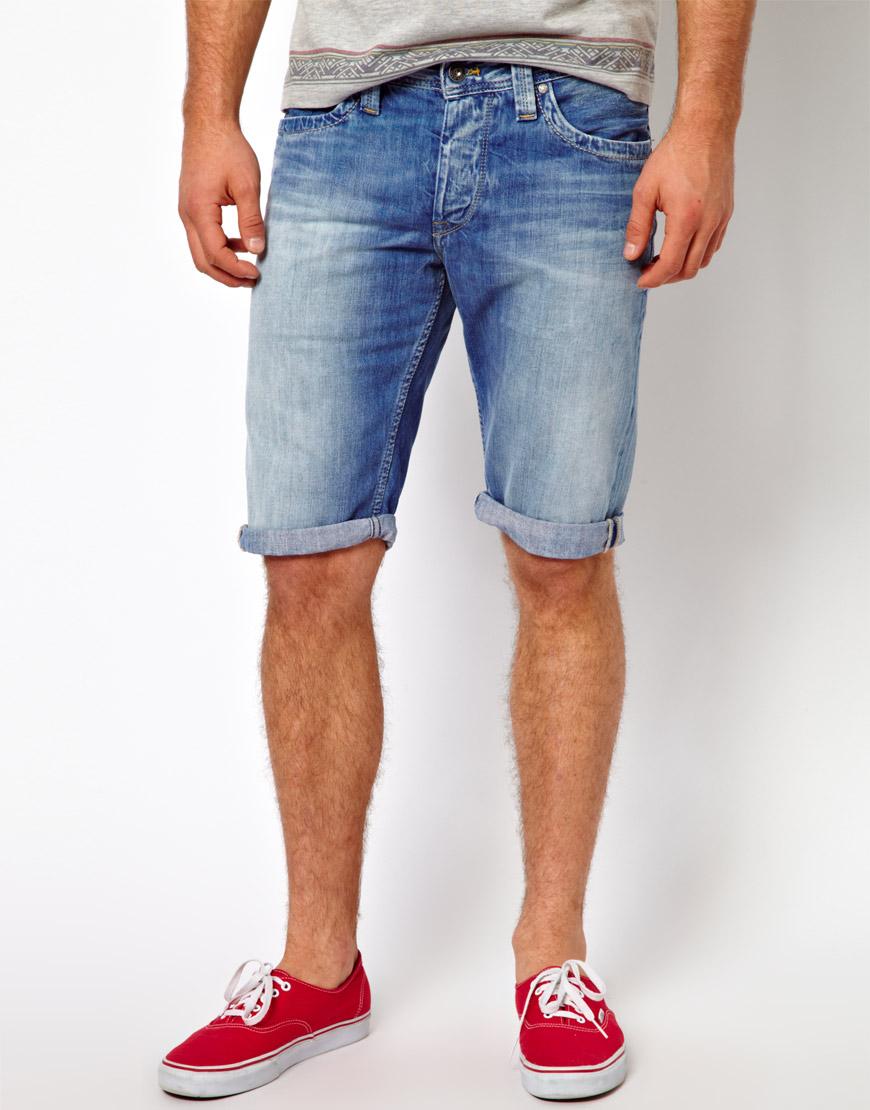 470e58c22dd1 Lyst - Pepe Jeans Denim Shorts Cash Regular Fit in Blue for Men