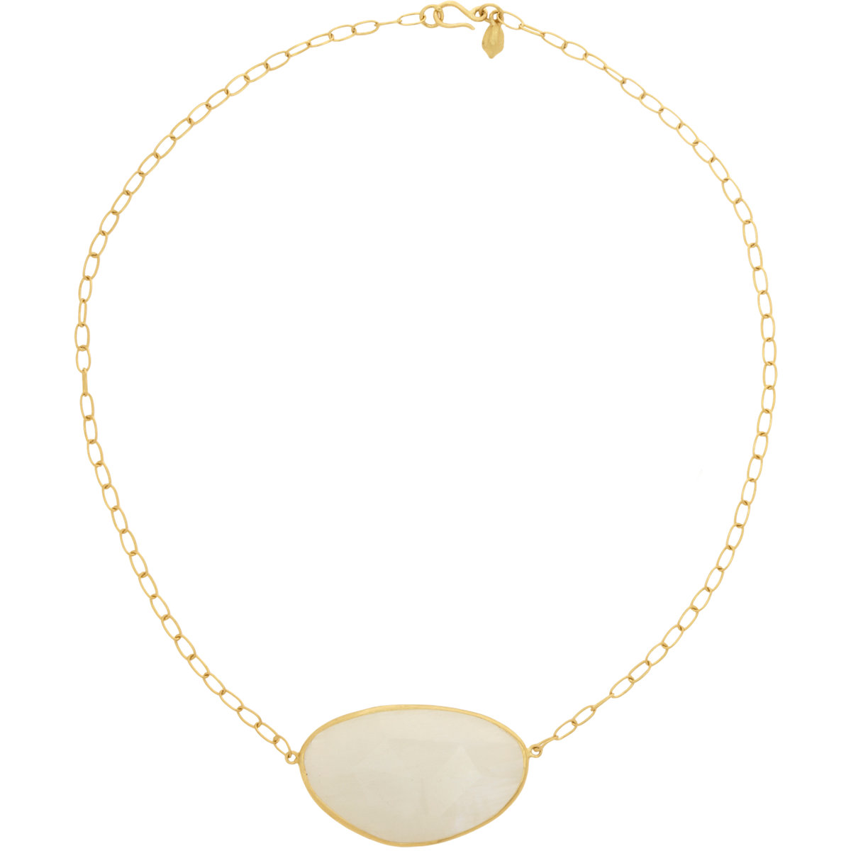 Moonstone Necklaces: Pippa Small Rainbow Moonstone Pendant Necklace In White