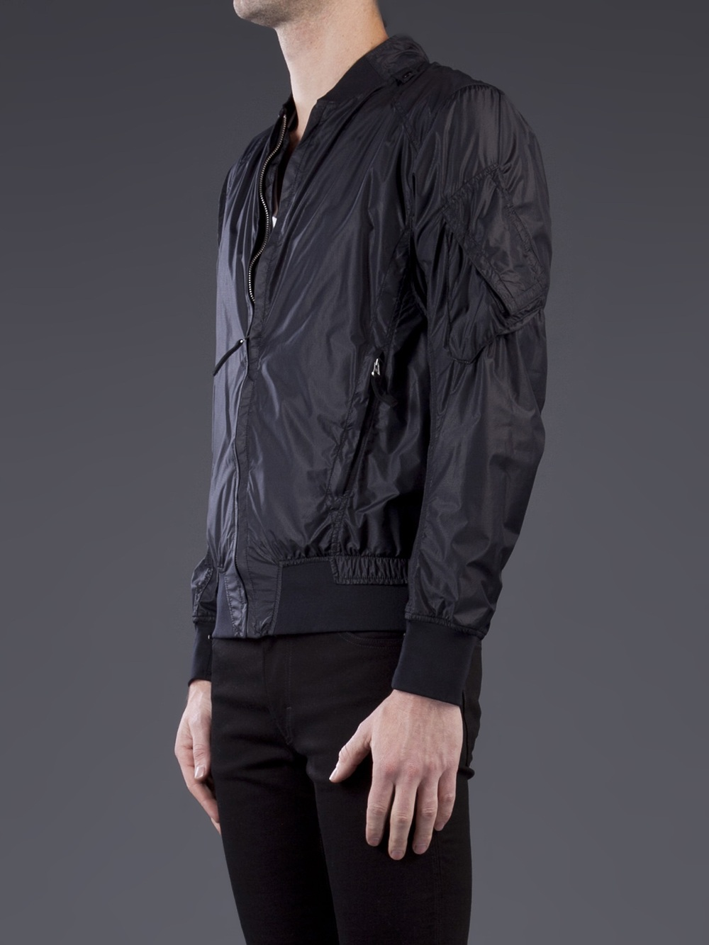 stone island windbreaker jacket in black for men lyst. Black Bedroom Furniture Sets. Home Design Ideas