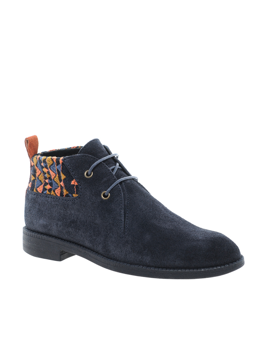 Swear Vienetta 4 Navy Lace Up Ankle Boots In Blue Navy