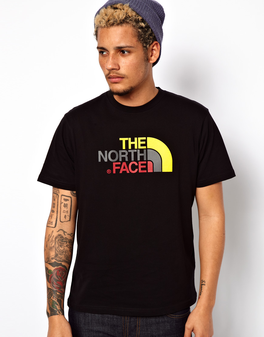 Lyst - The North Face T-shirt with Logo Print in Black for Men ad4c4e3a1