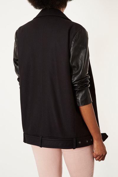 Ellen Tracy A-Line Leather Jacket (Plus Size) - Polyvore