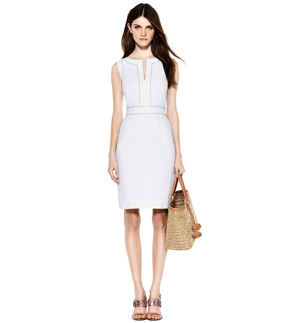 Lyst - Tory Burch Zoie Dress In White