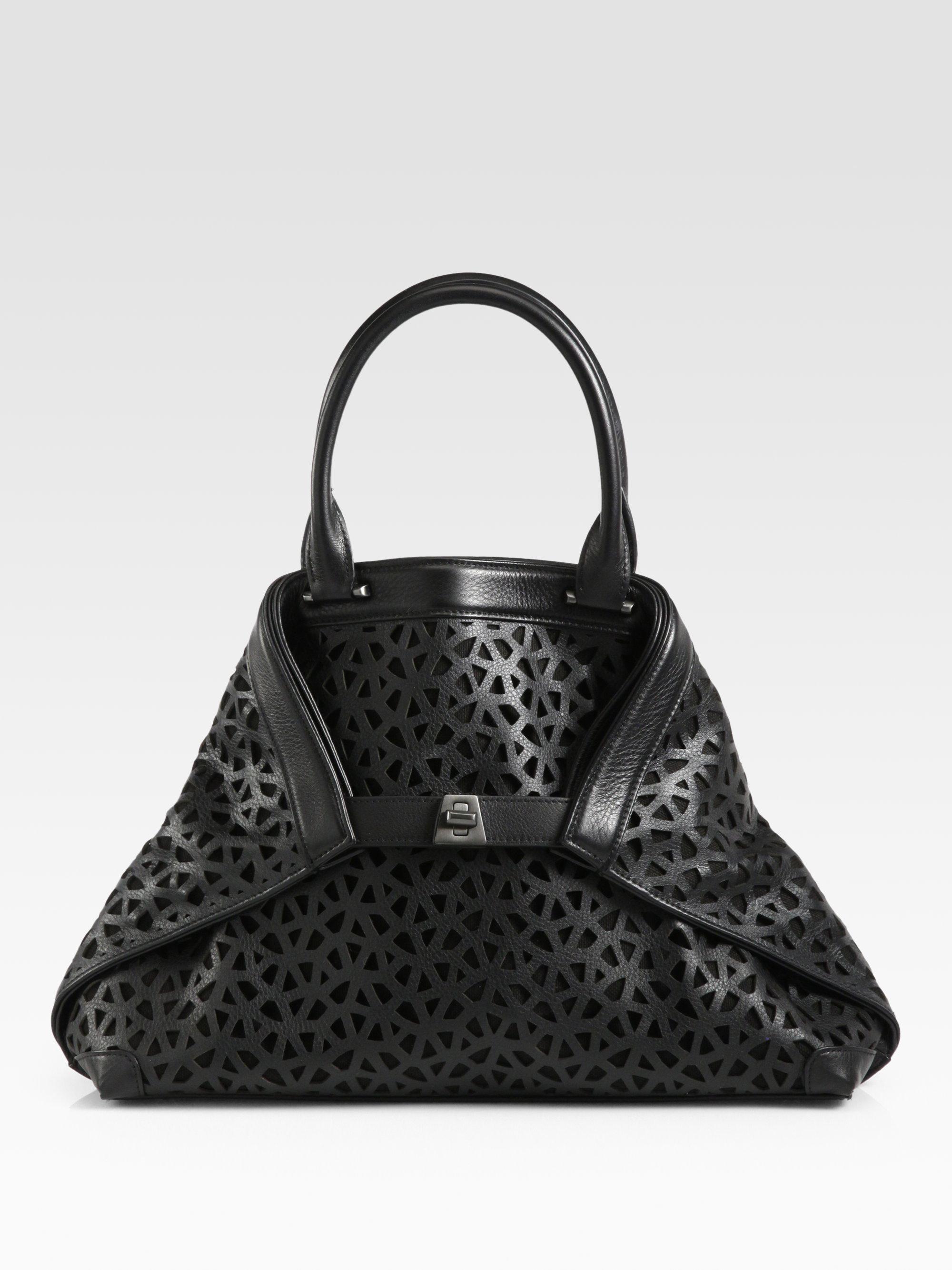 8215430cfe Akris Ai Small Lasercut Bag in Black - Lyst