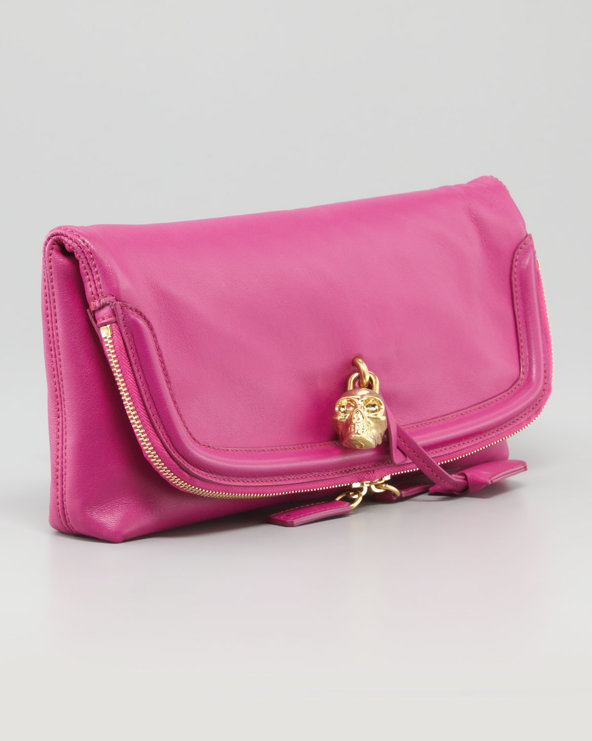 Cheap Sale Online Skull clutch - Pink & Purple Alexander McQueen Reliable For Sale Limited New kO7Pl3w3