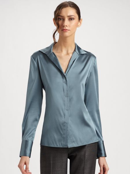 Work Blouse Unbuttoned Squeeze 52