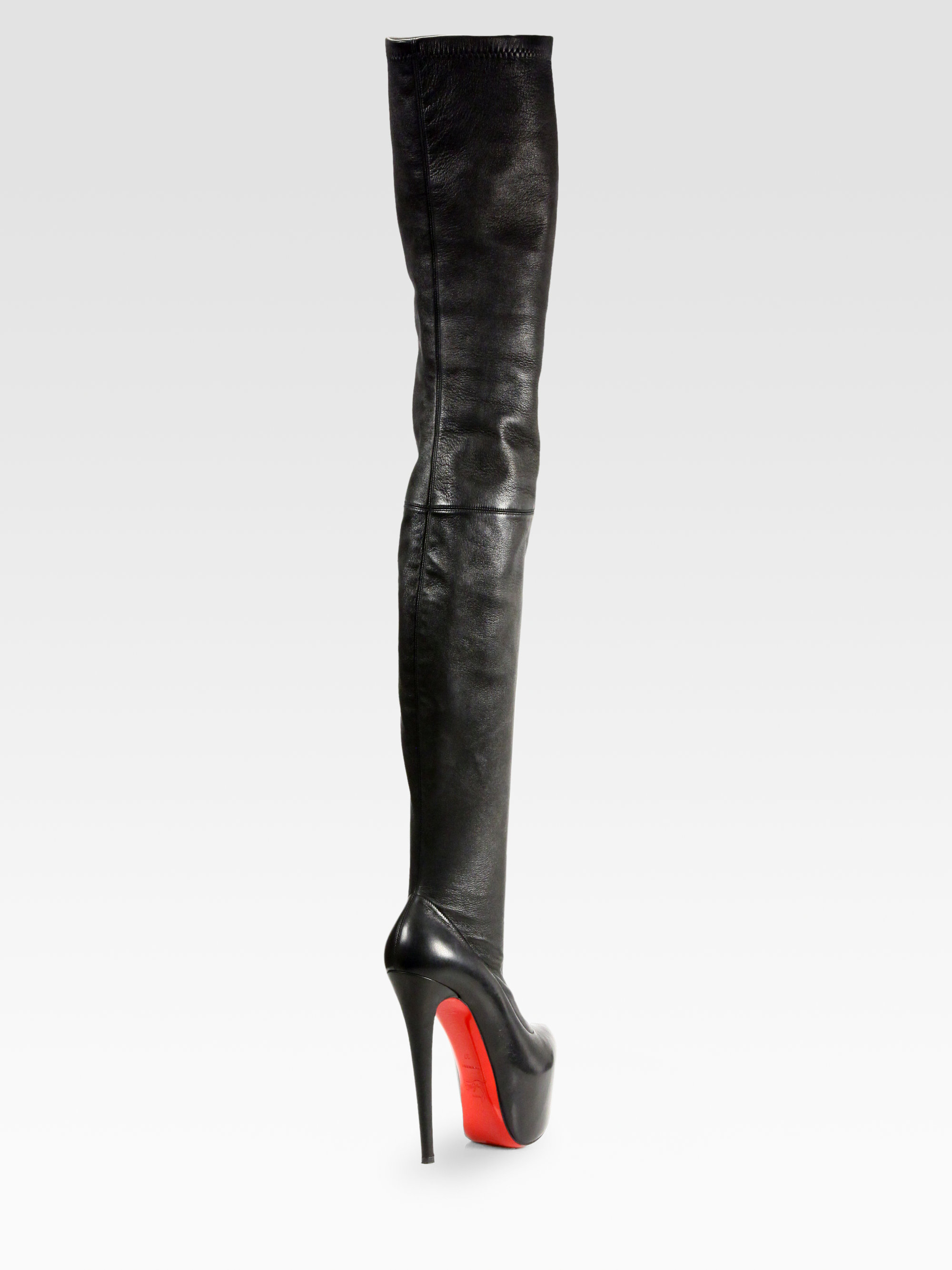 ec6641a80db Christian Louboutin Black Monicarina Thighhigh Leather Boots