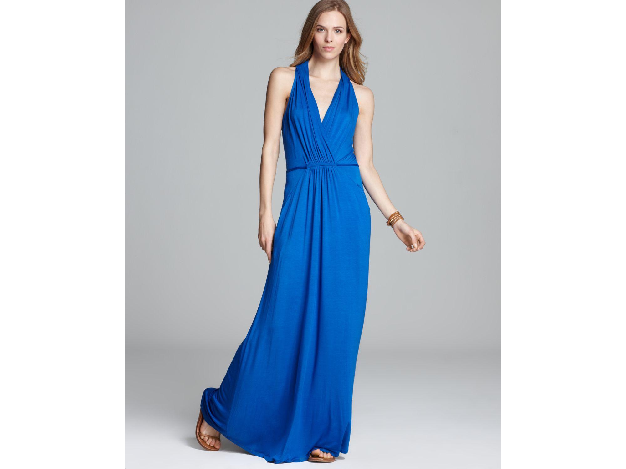 Ella moss Dress Stella Jersey Maxi in Blue | Lyst