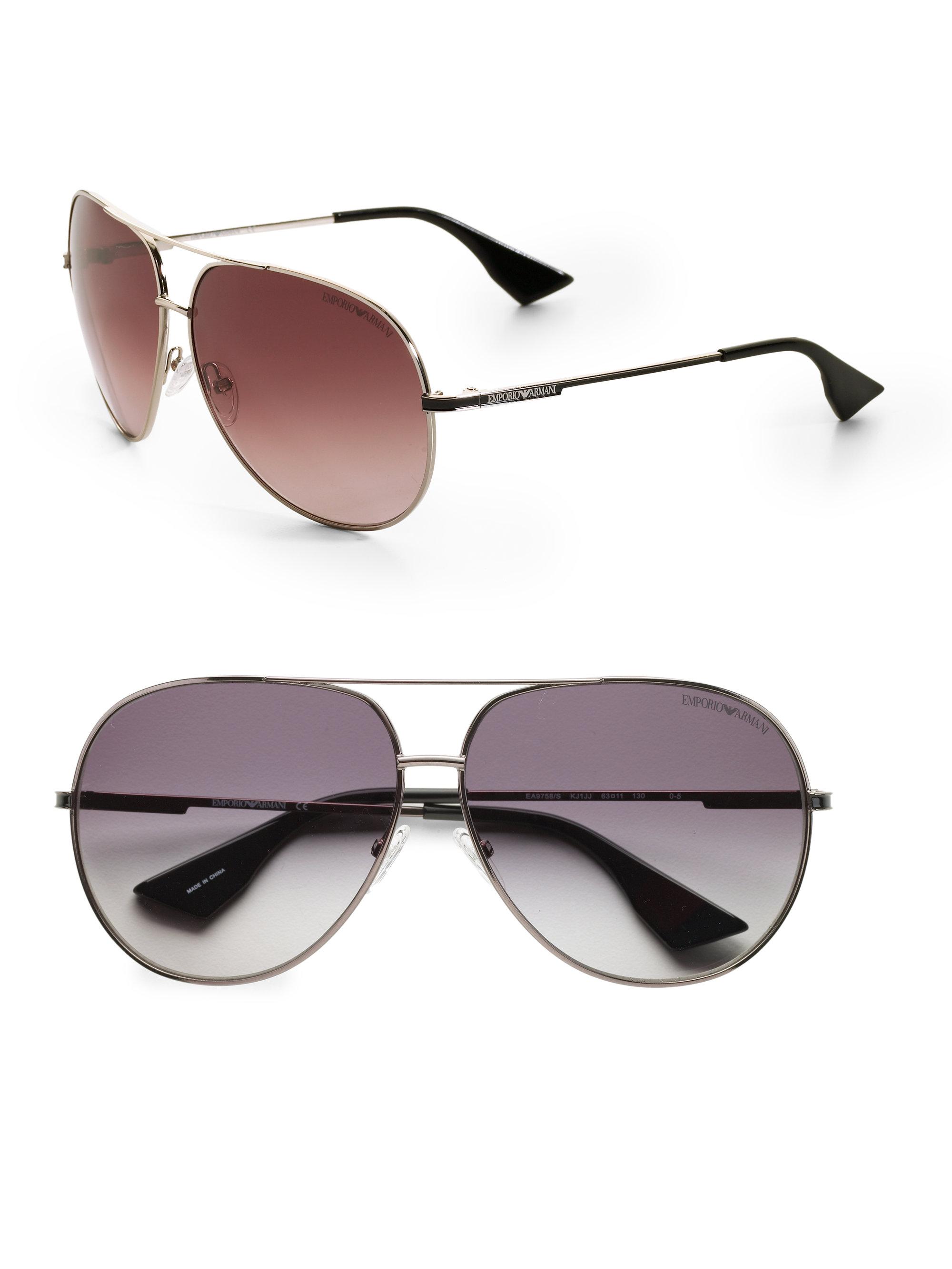 a2a2b56d8c76 Emporio Armani Metal Aviator Sunglasses in Gray for Men (grey)