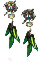 Erickson Beamon Aquarela Do Brasil Goldplated Swarovski Crystal Earrings
