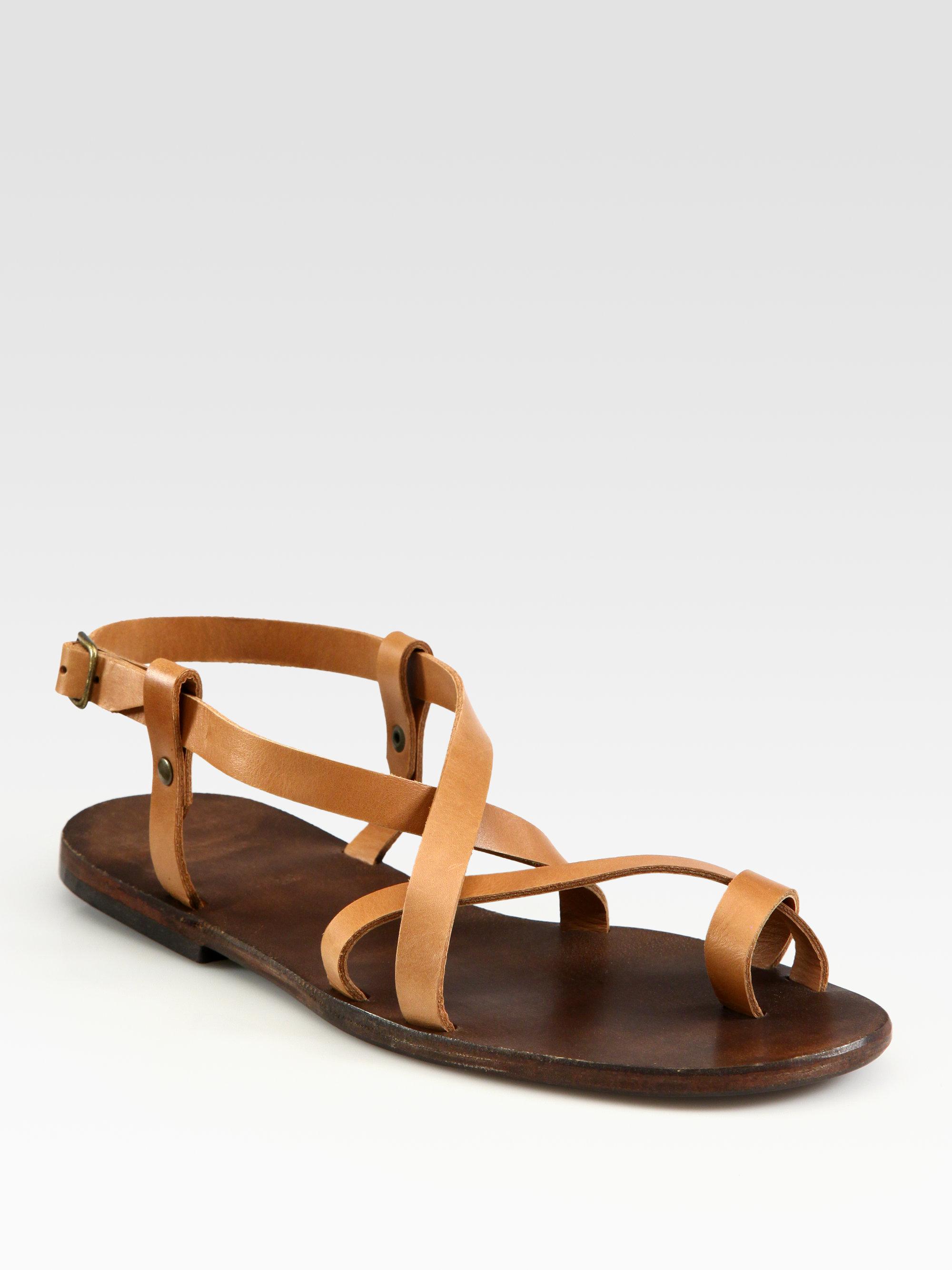 ceb7dc5b4 Ishvara Ibiza Leather Crisscross Sandals in Brown - Lyst