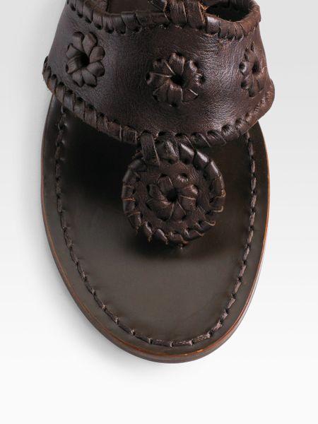 02c970f90 Jack Rogers Pompeii Anklecuff Sandals in Brown (dark brown)