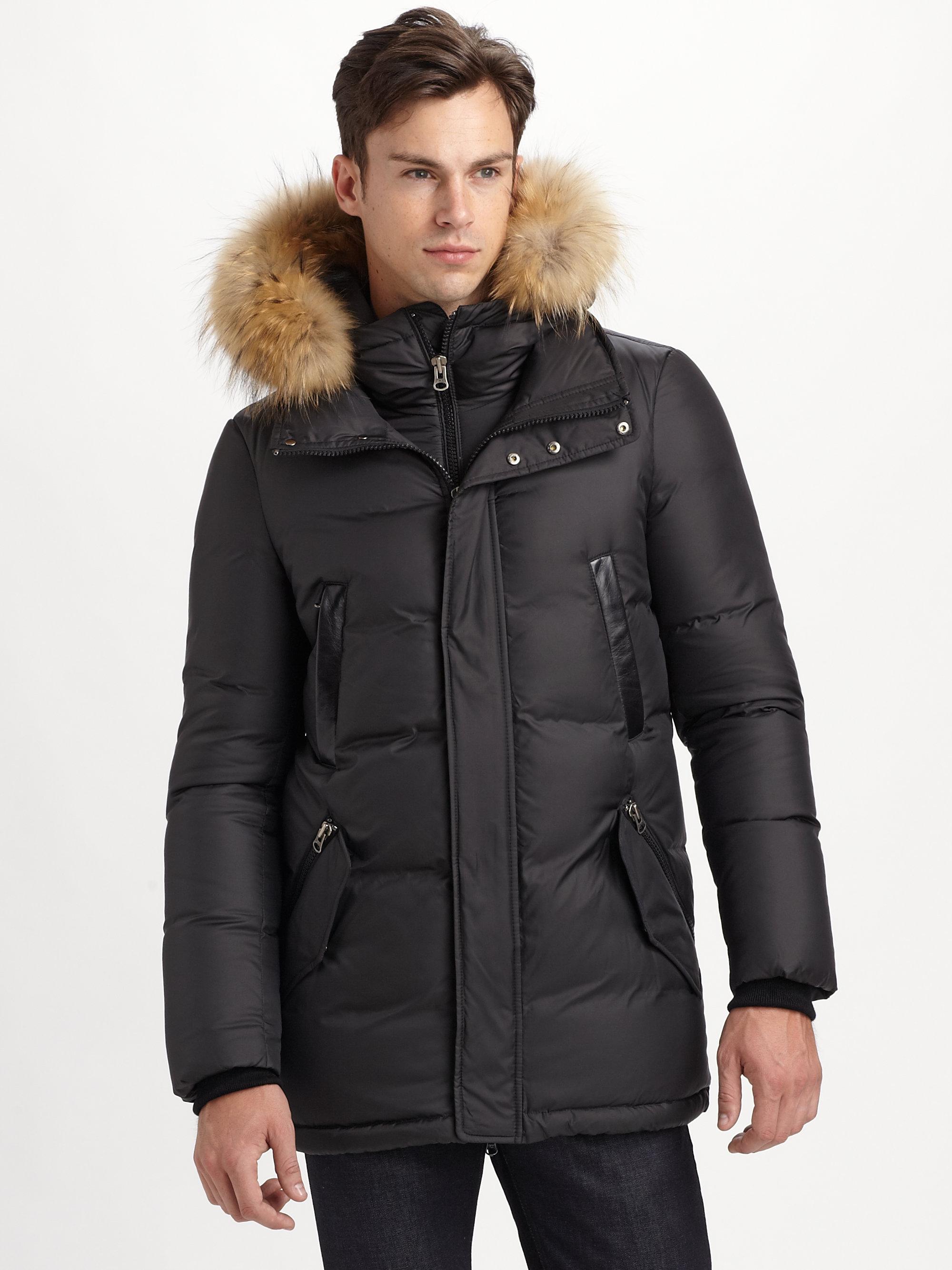 Men's Black Ferris Matte Puffy Down Coat