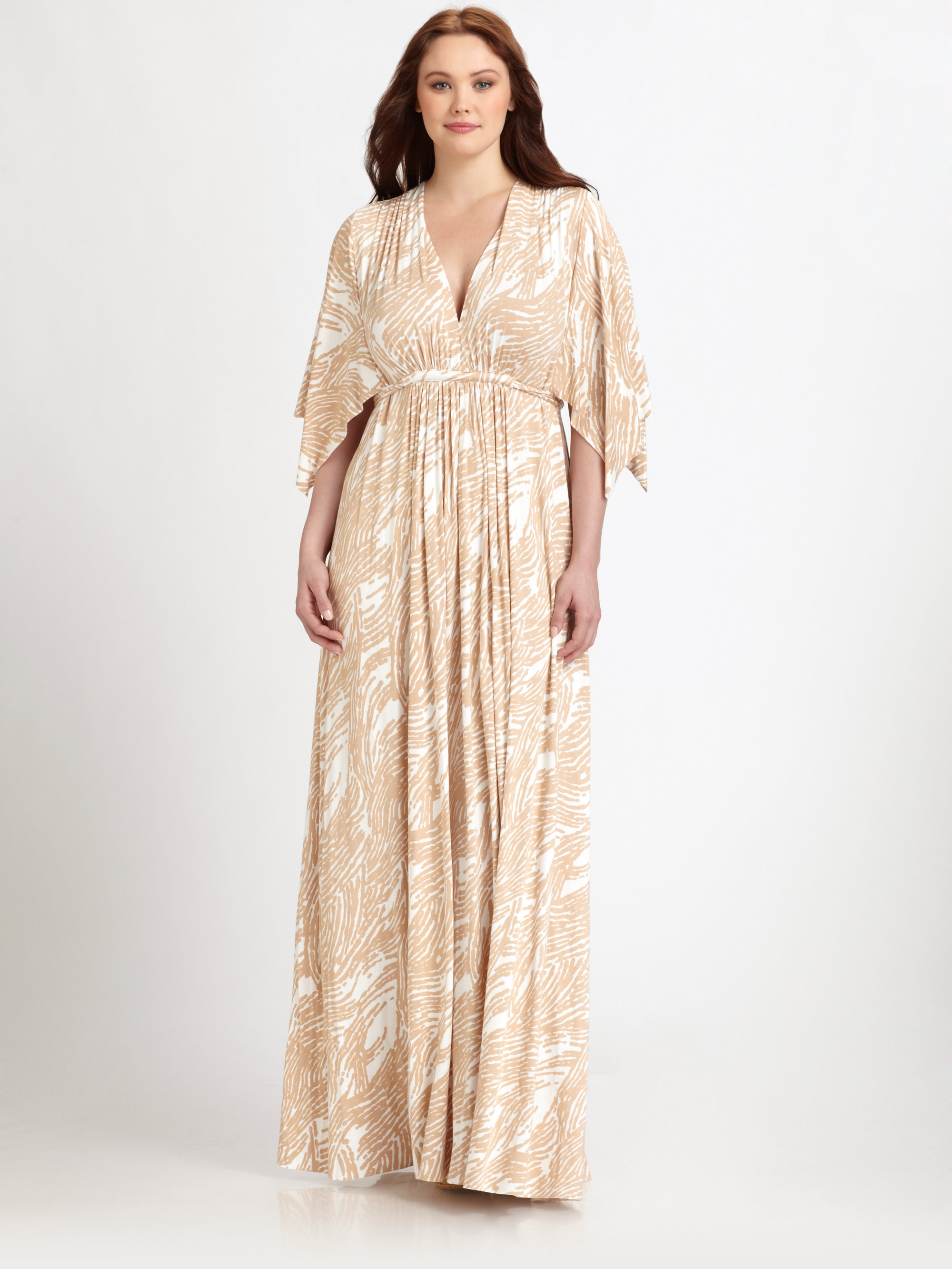 ddc2edfc741 Rachel Pally Printed Long Caftan Dress in Natural - Lyst