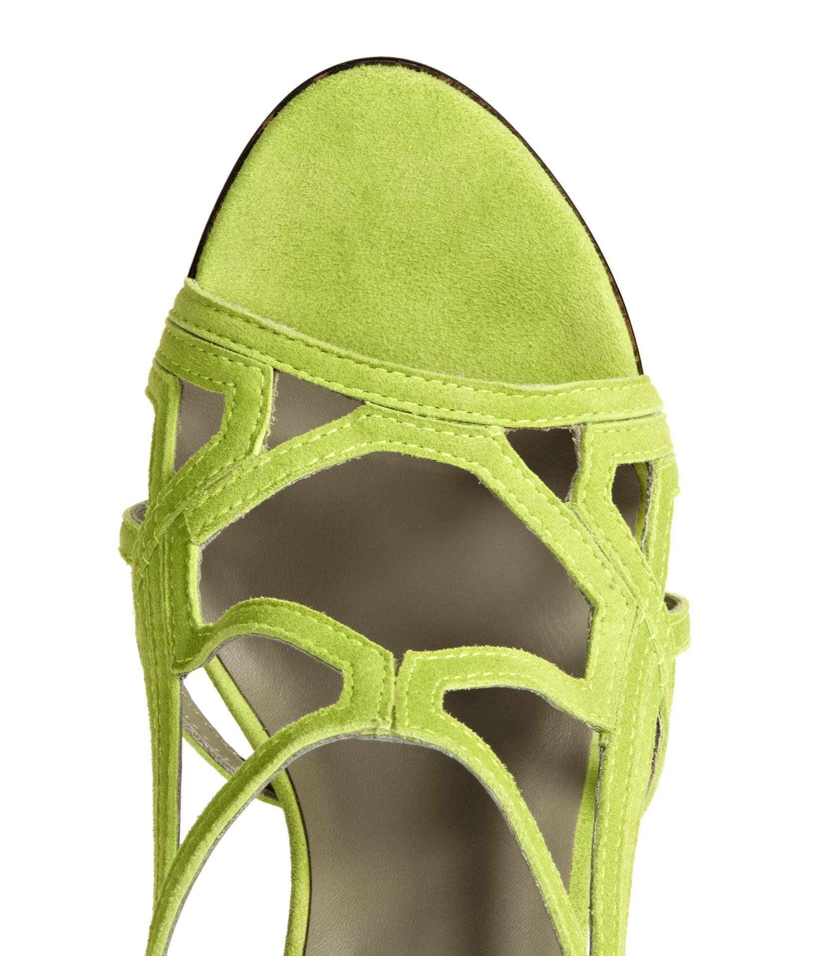05fb640ee7680c Lyst - Reiss Grazia Geometric High Sandals in Green