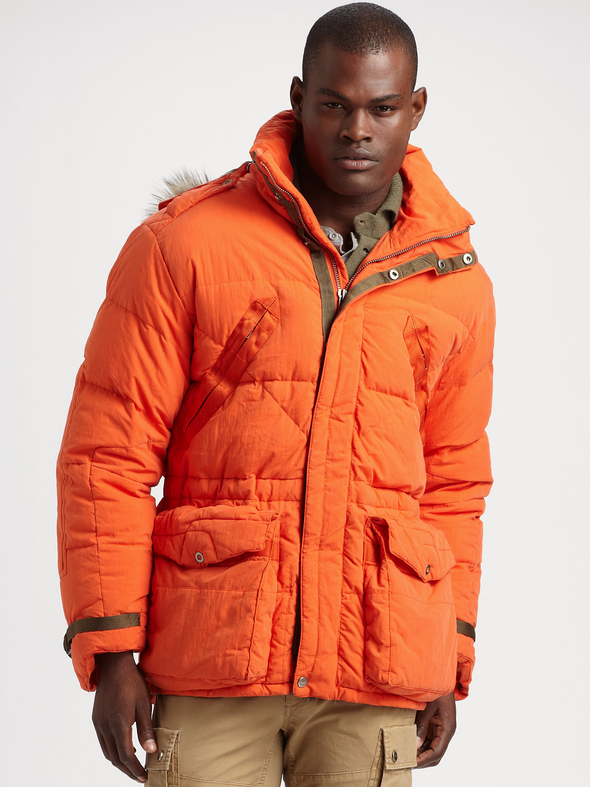 Lyst Rlx Ralph Lauren Tenzing Down Parka In Orange For Men