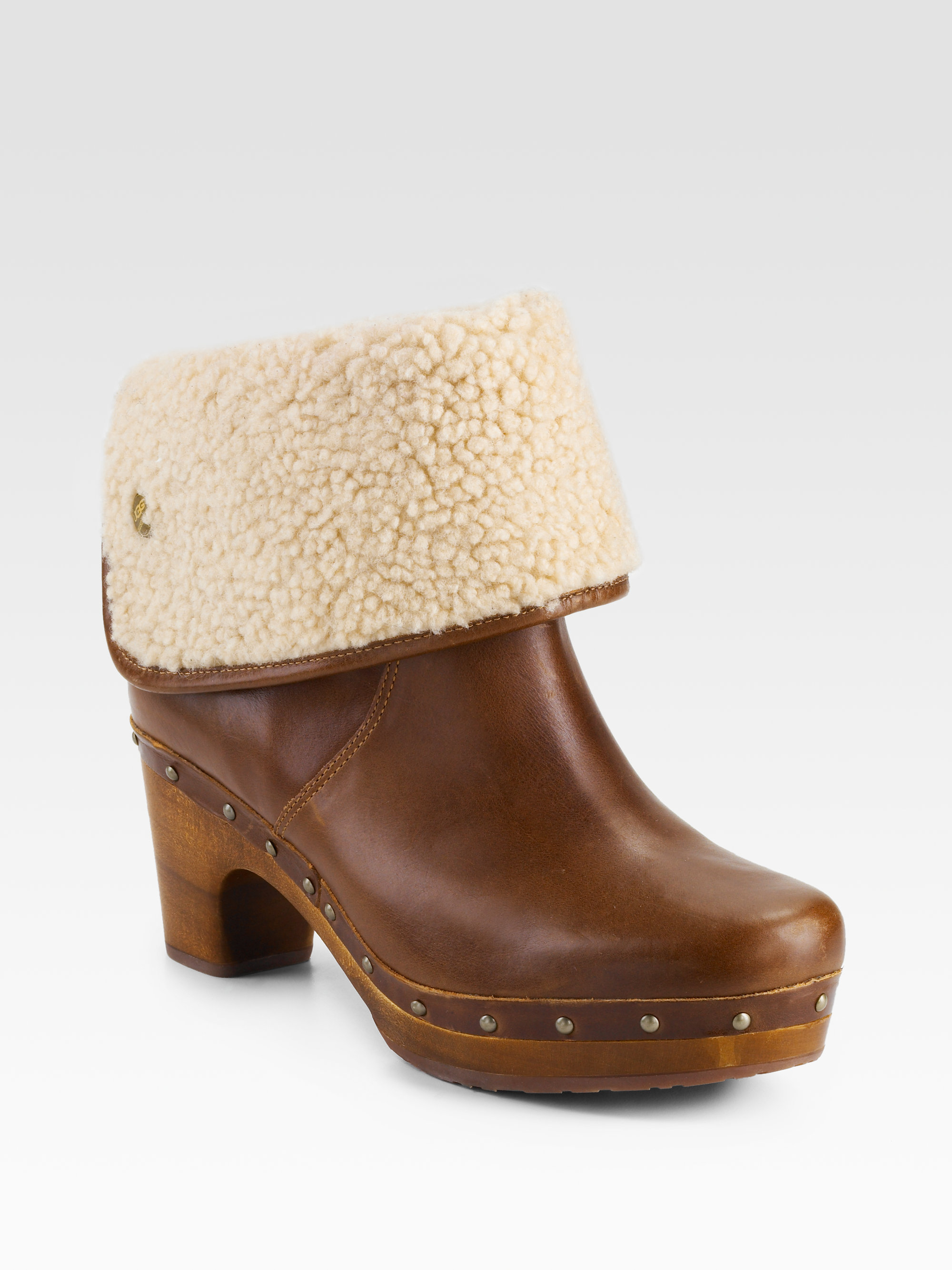 079dd9cbb50 UGG Brown Lynnea Clog Shearlinglined Ankle Boots