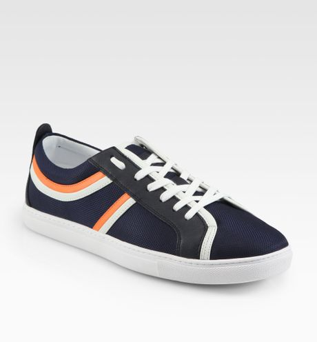 boss orange loinod laceup sneakers in blue for men navy. Black Bedroom Furniture Sets. Home Design Ideas