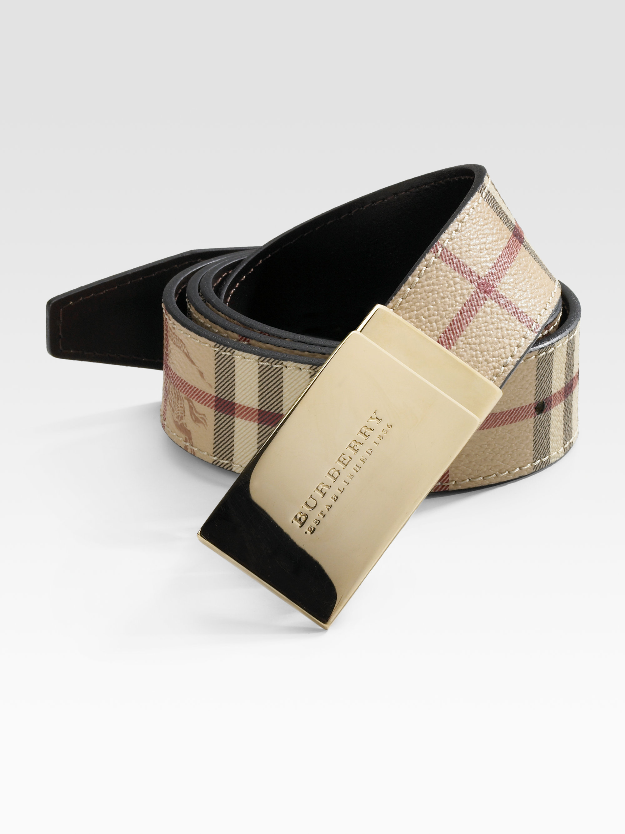 Lyst - Burberry Signature Belt in Brown for Men 3acbbec5501