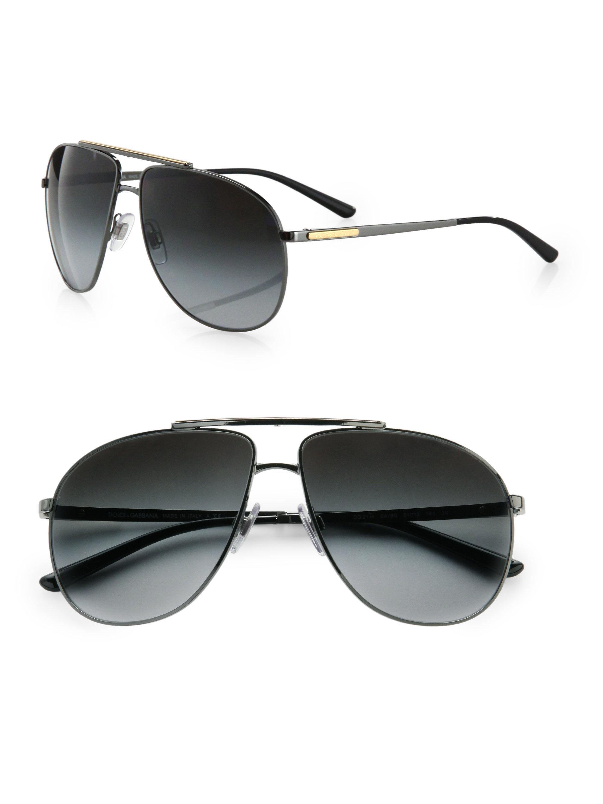 Dolce Gabbana Sunglasses Black  dolce gabbana metal aviator sunglasses in black for men lyst