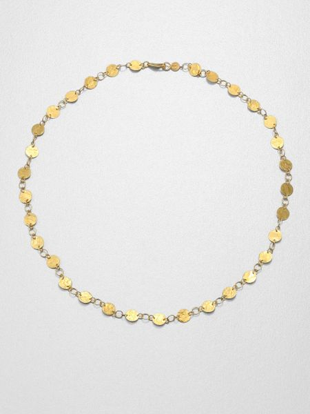 gurhan lush 24k yellow gold flake necklace in gold lyst