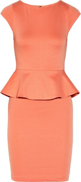 Alice + Olivia Victoria Stretch Jersey Peplum Dress - Lyst