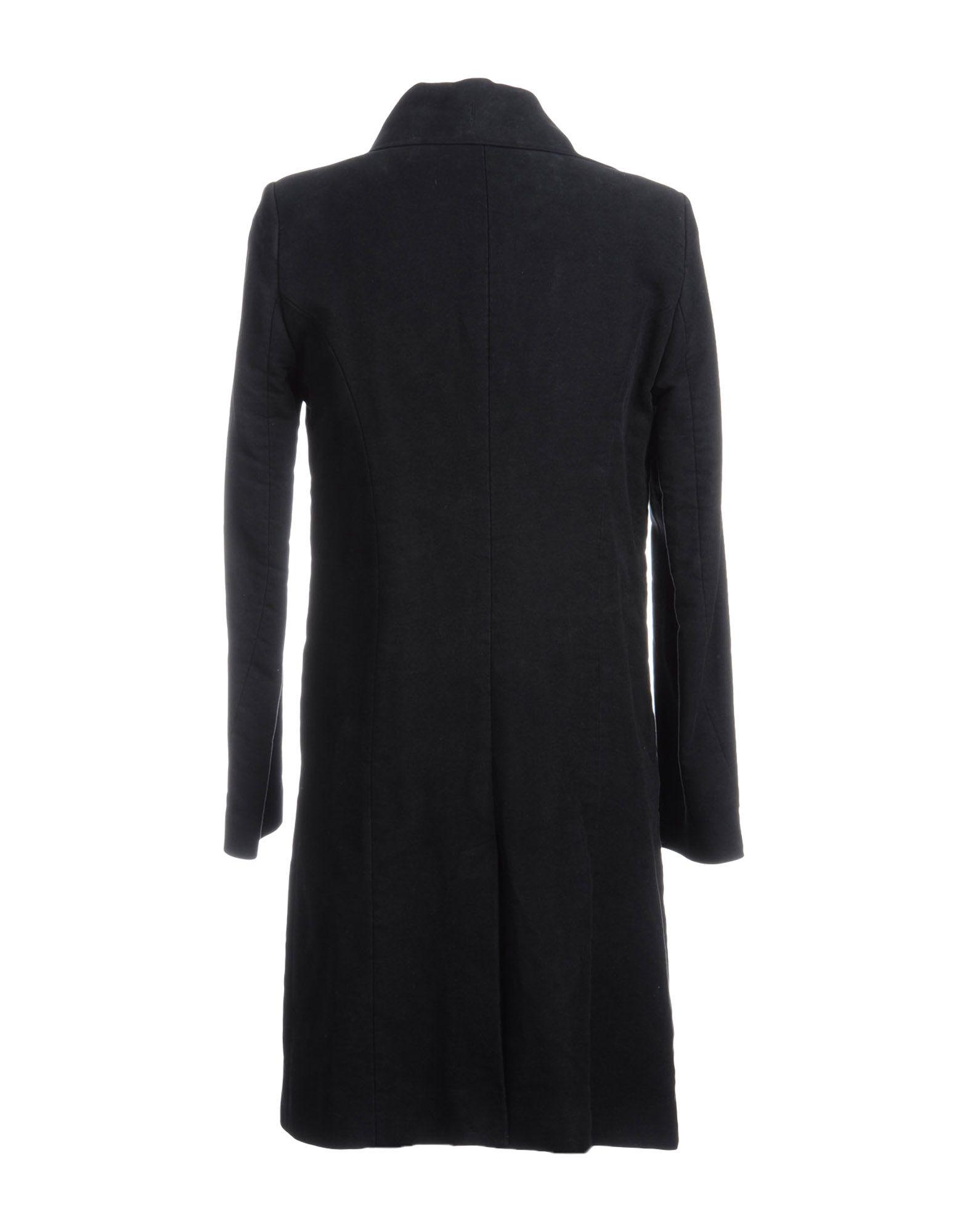 Ann Demeulemeester Flannel Coat in Black for Men