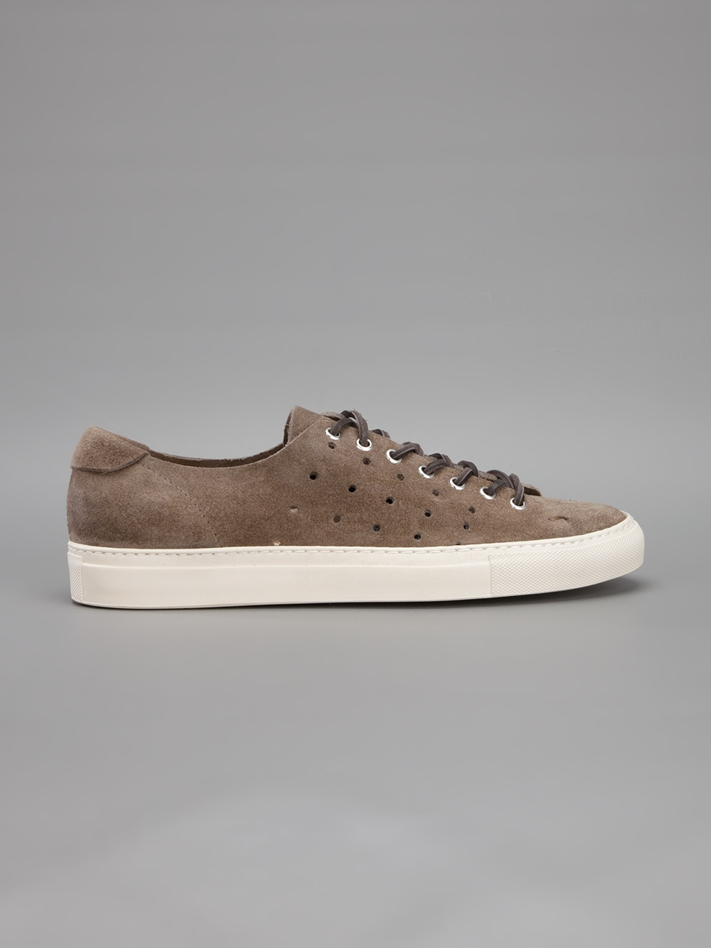 Buttero Suede Trainer in Taupe (Brown) for Men
