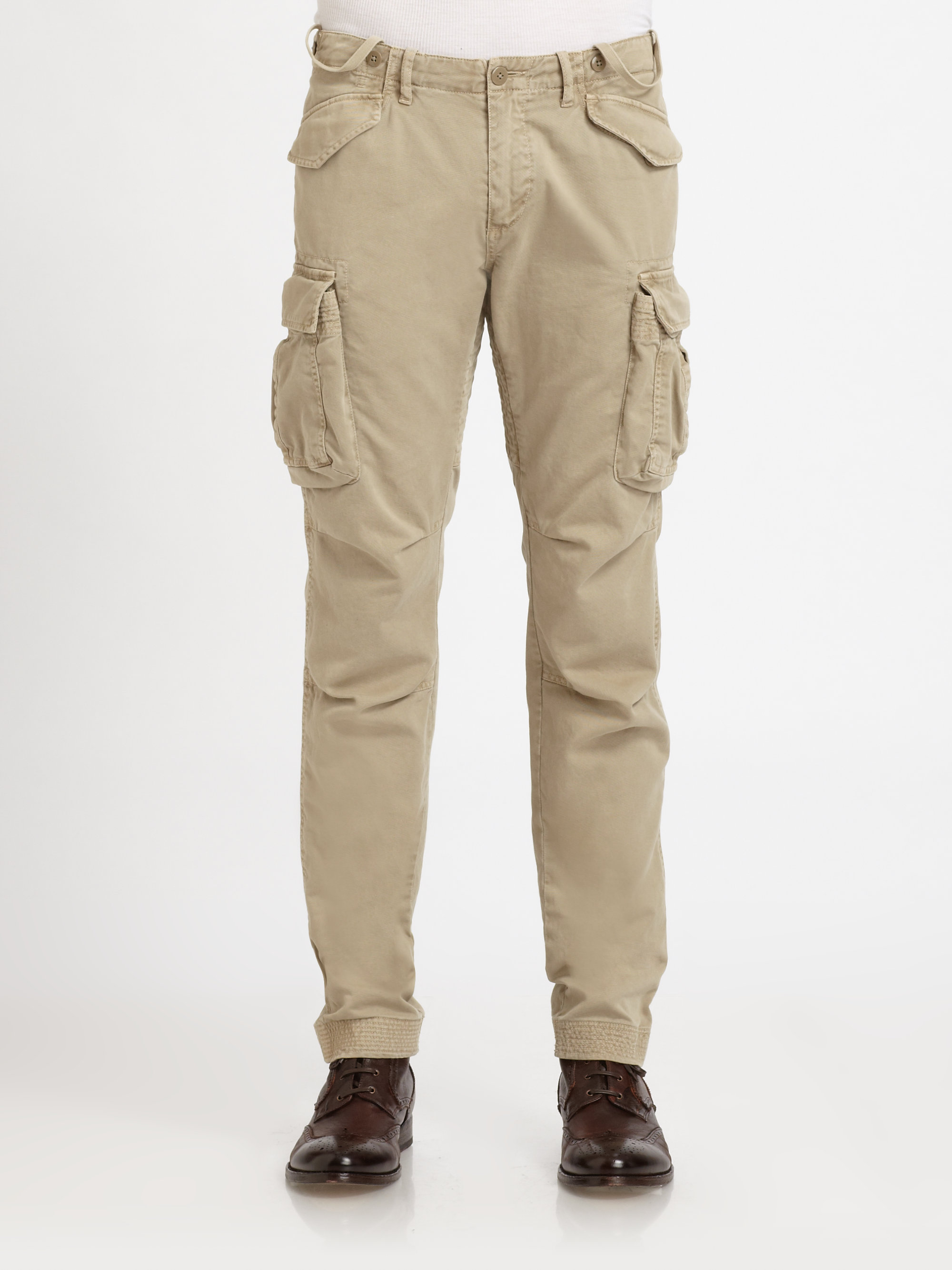 f5a1e3629d Lyst - GANT Skinny Cargo Pants in Natural for Men