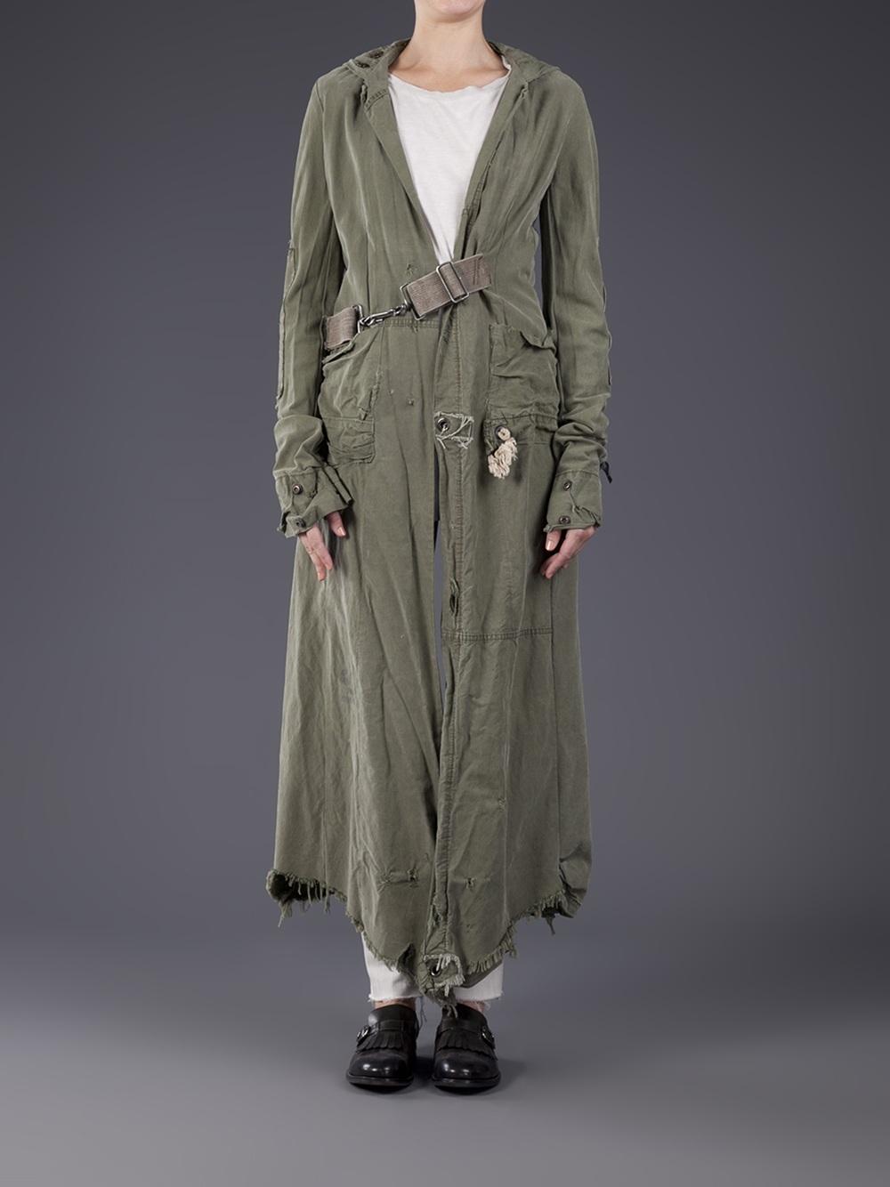 Gallery & Lyst - Greg lauren Tent Toggle Jacket in Green