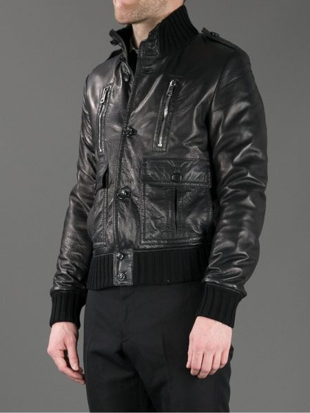 Gucci Leather Jacket in Black for Men   Lyst