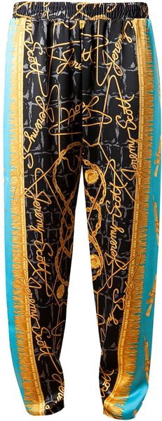 Jeremy Scott Scarf Printed Silk Trousers - Lyst