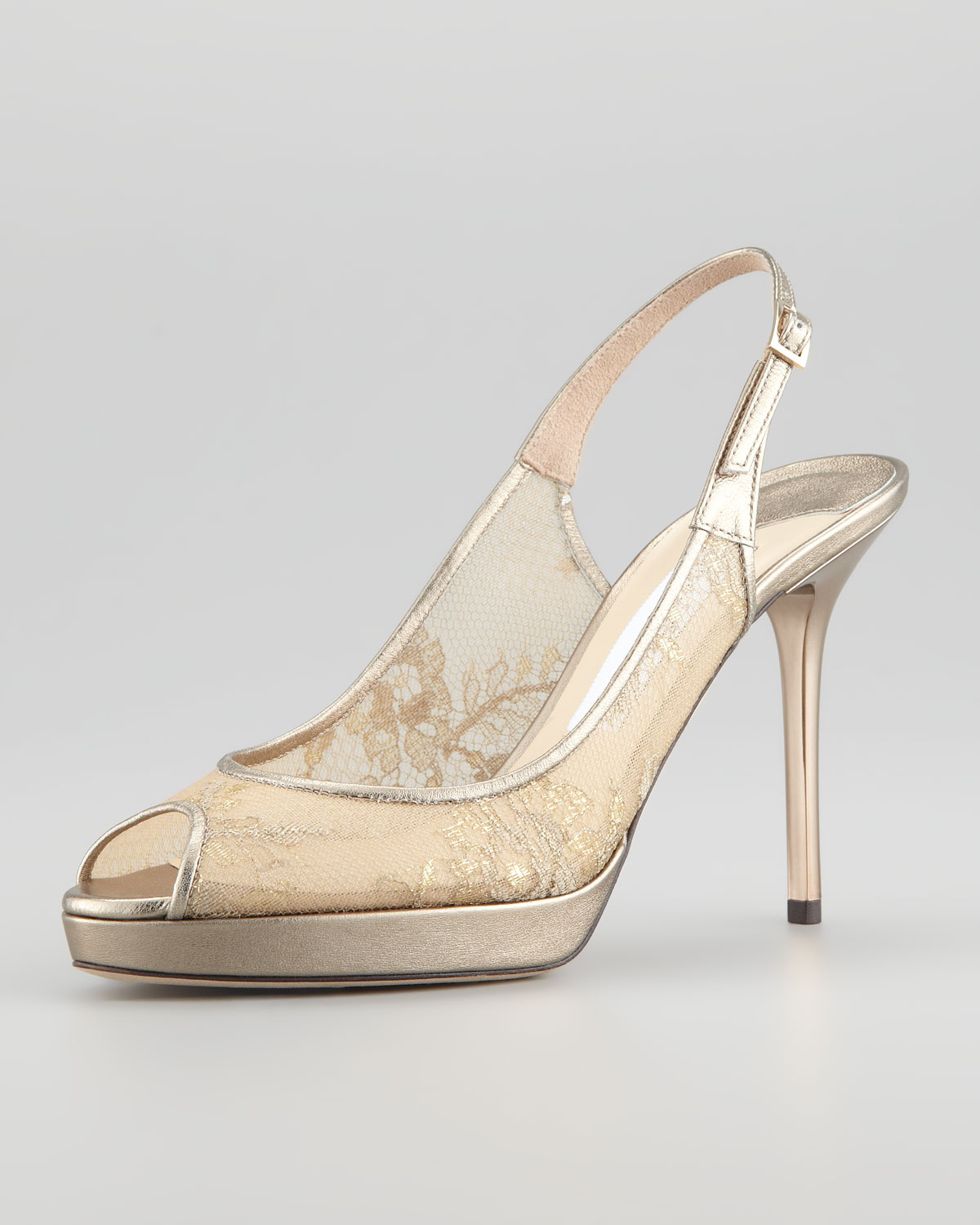 free shipping cost prices cheap online Jimmy Choo Nova Lace Slingback Pumps F2MRwyh2a