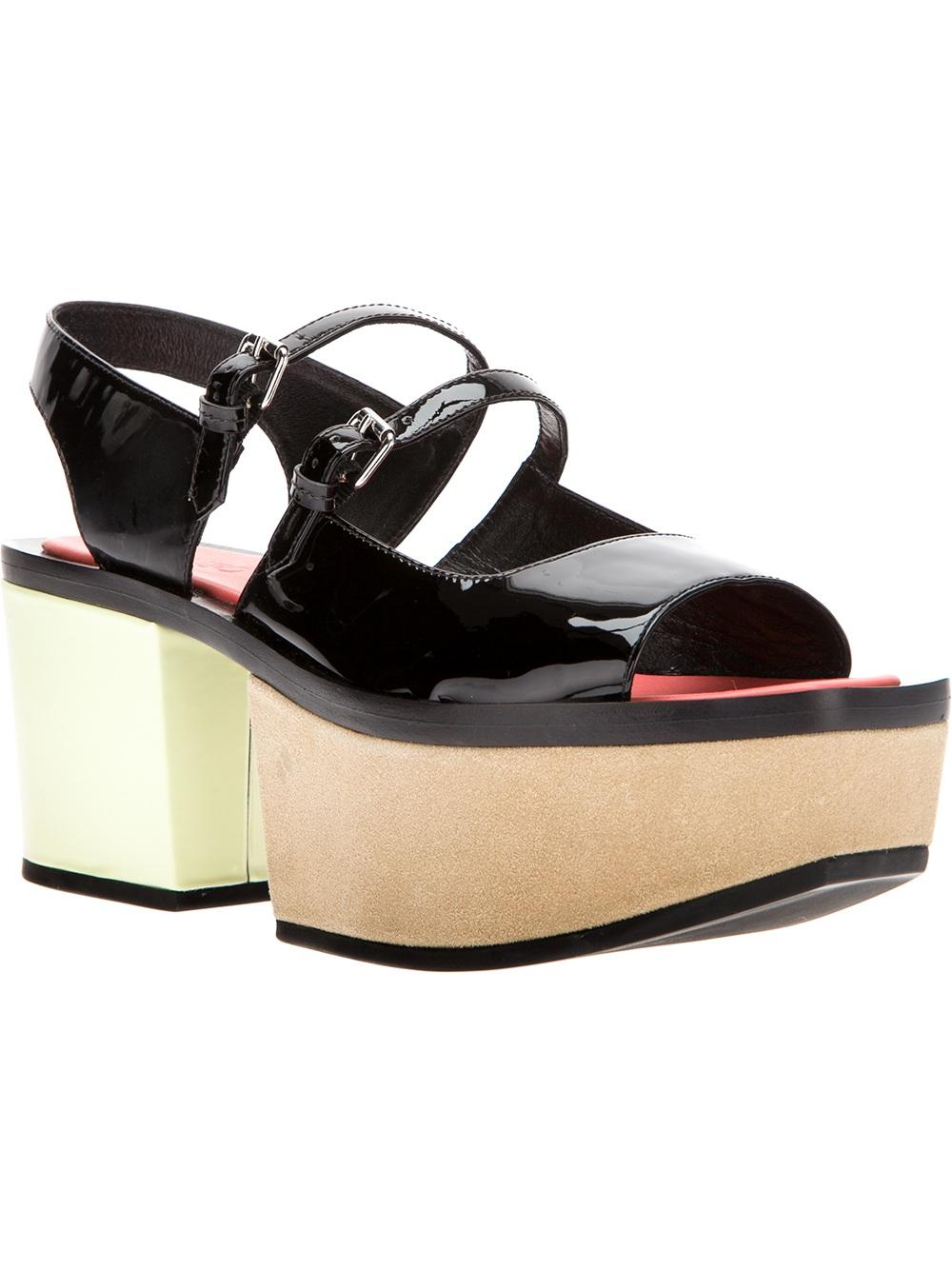 Lyst Kenzo Platform Sandal In Black