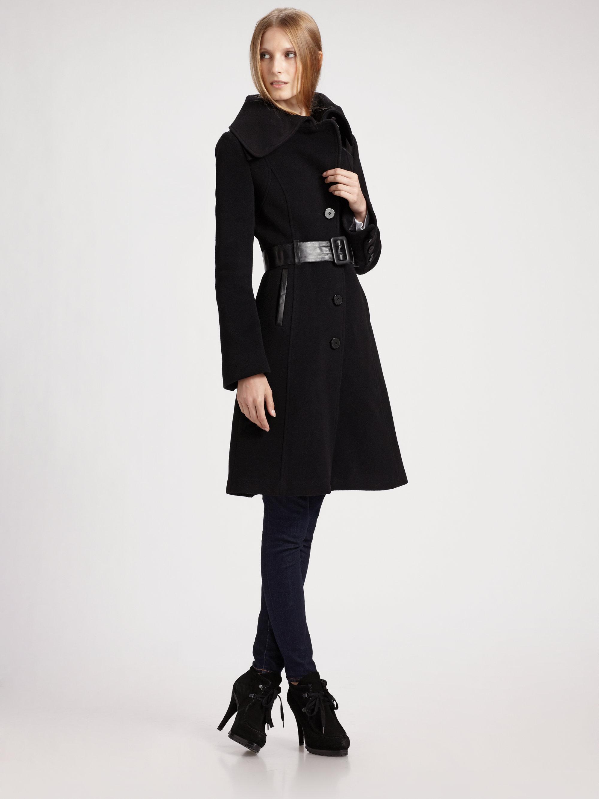 cab90a7a703 ... authentic lyst mackage aline wool coat in black 3dfda 5b0f1