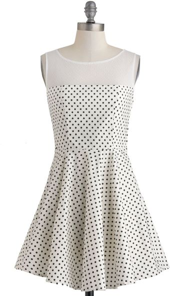 ModCloth Lindy Dot Dress - Lyst
