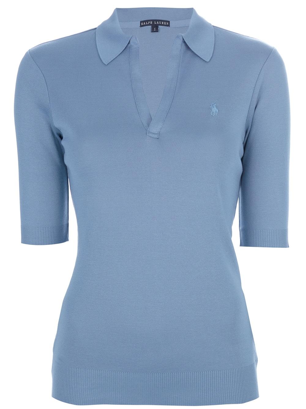 Ralph lauren black label classic polo shirt in blue lyst for Ralph lauren black label polo shirt
