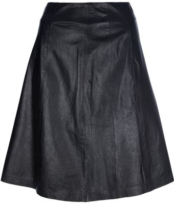 Theyskens' Theory Aline Leather Skirt - Lyst