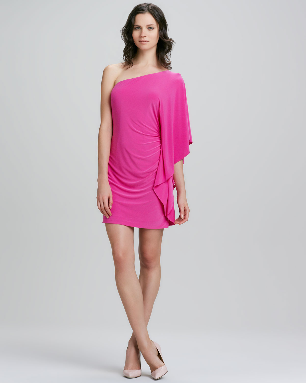 32ec7f74bbc7 Lyst - Trina Turk Cosmic One-Shoulder Ruffle Dress in Pink