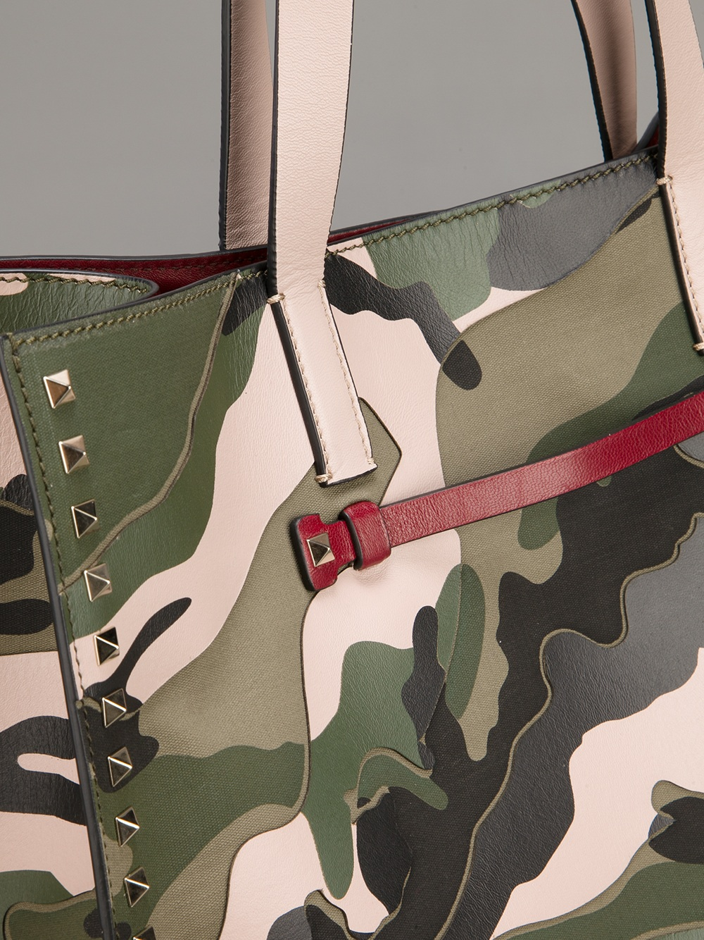 Valentino Rock Stud Camouflage Shopper In Green Lyst