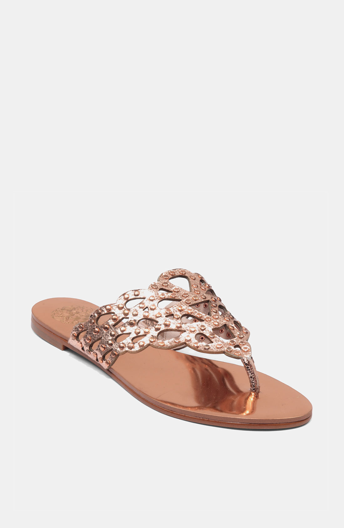 Vince Camuto Elian Sandal In Pink Rose Gold Lyst
