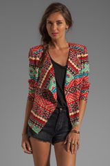 Printed Jacket in Saffron Combo