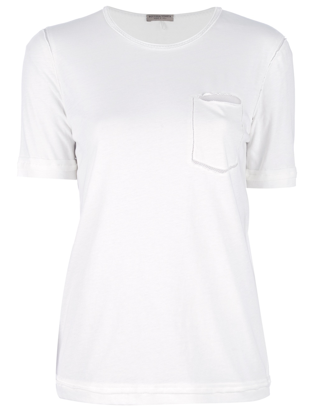 Lyst bottega veneta chest pocket tshirt in white for Bottega veneta t shirt