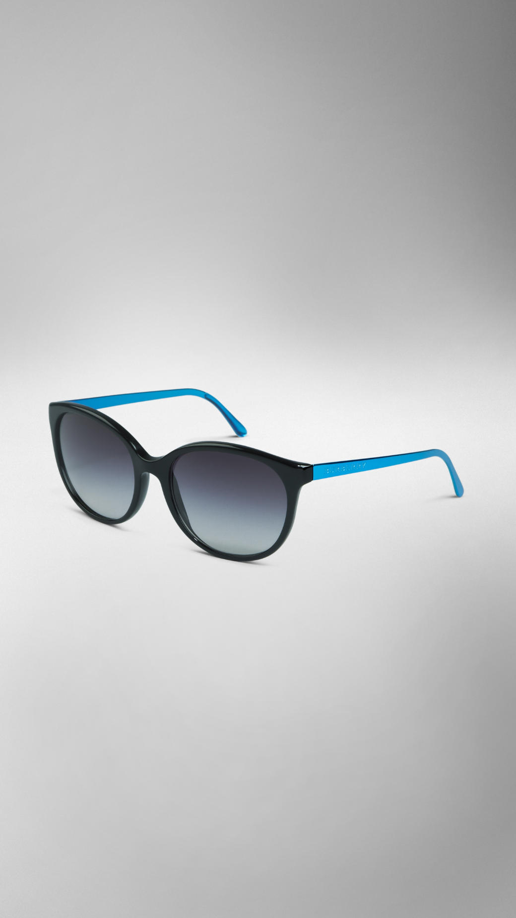 9d63627cefd Lyst - Burberry Spark Cat-Eye Sunglasses in Black