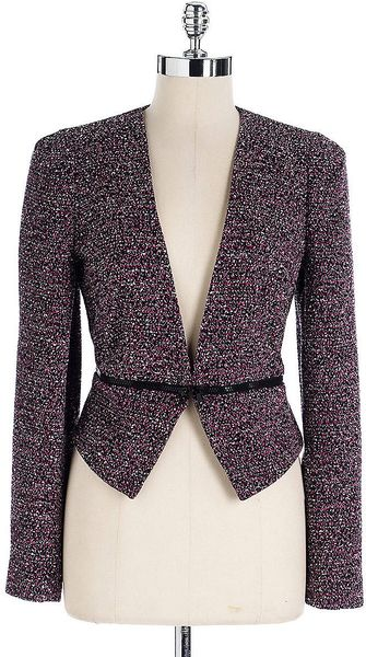 Calvin Klein Tweed Convertible Jacket - Lyst