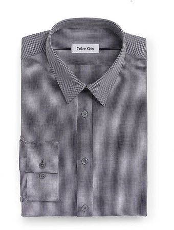 Calvin Klein Micro Check Dress Shirt - Lyst