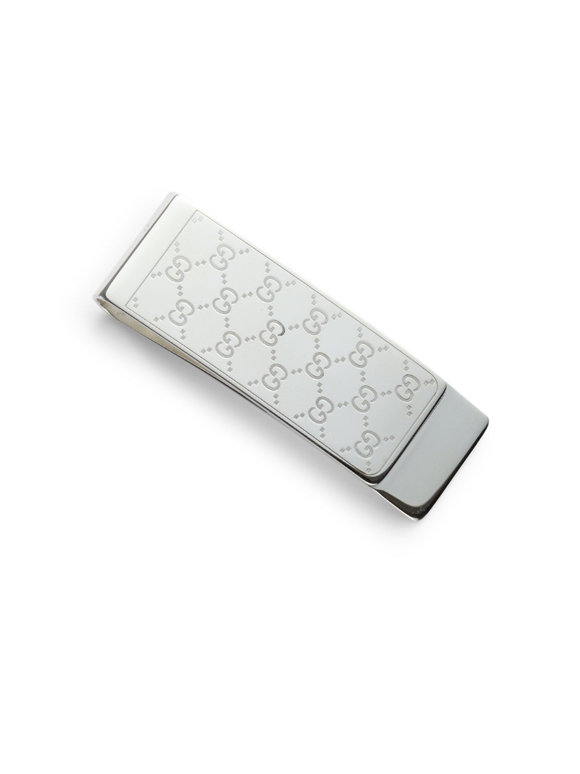 5cdead826877 Gucci Sterling Silver Icon Money Clip in Metallic for Men - Lyst