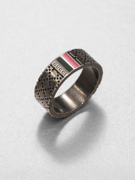 gucci sterling silver ring in silver for sterling
