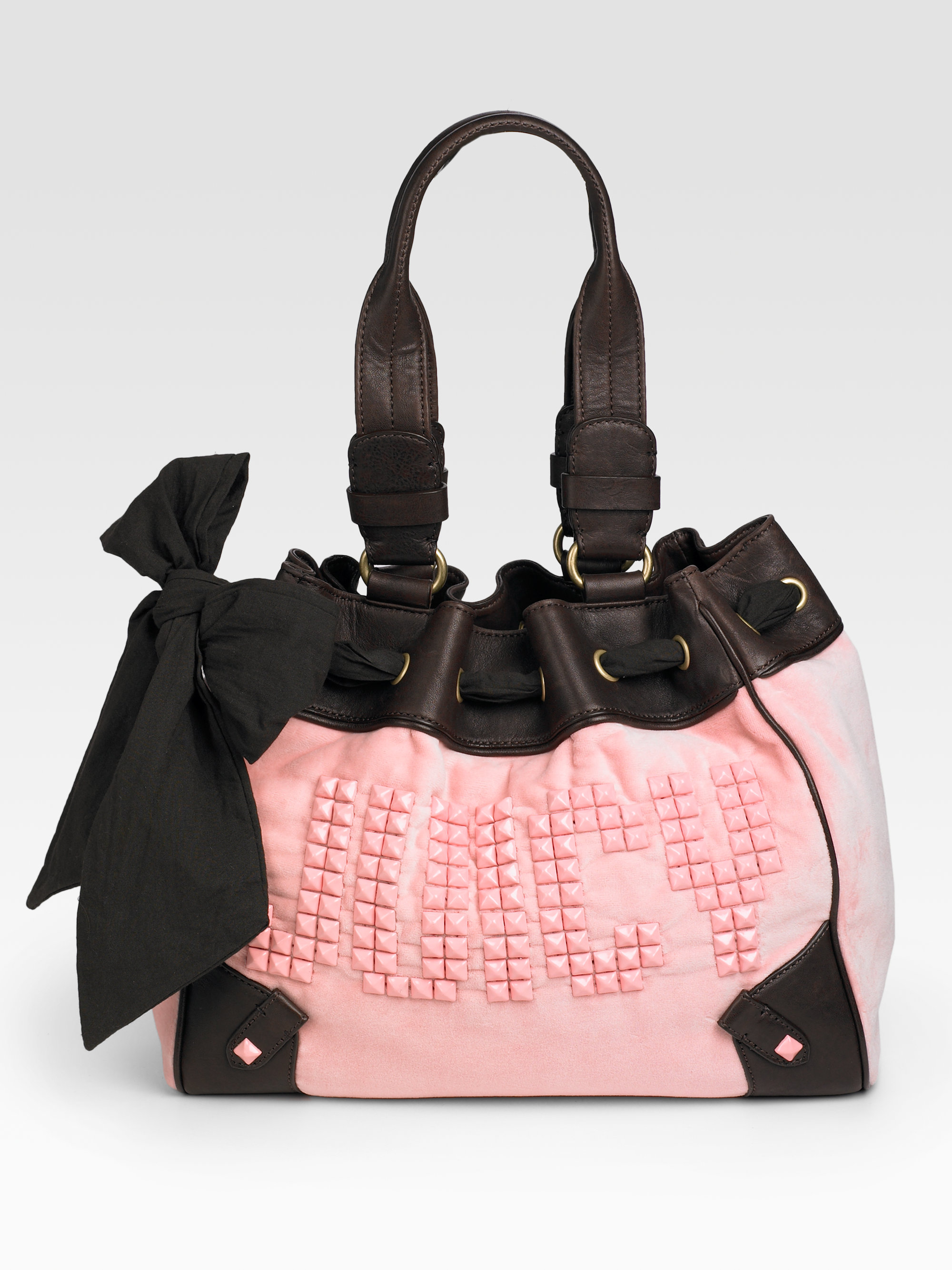 juicy couture day dreamer studded tote in pink lyst. Black Bedroom Furniture Sets. Home Design Ideas